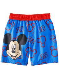 Disney Toddler Boys Blue Mickey Mouse Swim Trunks Board Shorts