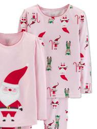 Carters Infant & Toddler Girls Santas Nice List Christmas Holiday Pajamas