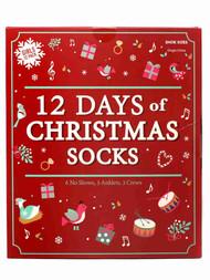 Girls 12 Days of Christmas Holiday Socks 12 Pair