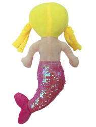 Linzy Toys 14 inch Victoria Mermaid With Pink Sequins Plush Doll
