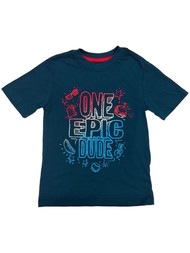 Boys Blue One Epic Dude Patriotic T-Shirt Fourth of July Tee Shirt X-Small