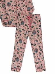 Girls Red /& Pink Aztec Print Pajamas Nordic Flannel Sleep Set