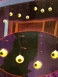 12 Colored Bloodshot Eyeballs Lights Halloween String Light Set