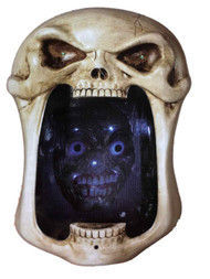 Motion Activated Light Up Illusion Mirror With Sound Skull Face Halloween Decor