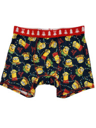 Briefly Stated Mens 2 Pack Minions Christmas Holiday Boxer Briefs Shorts
