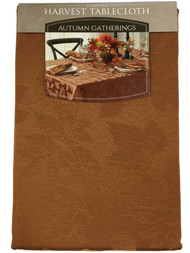 Autumn Gatherings Bronze Rust Damask Fabric Tablecloth Table Cloth 60x120 Ob