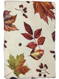 Autumn Gatherings Harvest Leaves Fabric Tablecloth, Foliage Table Cloth 60x84 Ob
