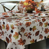 Autumn Gatherings Harvest Leaves Fabric Tablecloth, Foliage Table Cloth 60x104