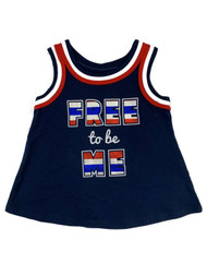 Infant & Toddler Boys Navy Free To Be Me Tank Top Athletic Muscle Shirt