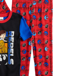 Boys Red Lego Star Wars Rebellion Chewbacca 4 Piece Pajama Sleep Set