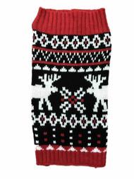 Black Holiday Christmas Reindeer Dog Sweater Pet Costume