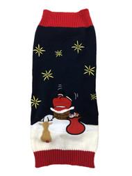 Blue Santa Deer Gifts Chimney Christmas Holiday Dog Sweater Pet Costume