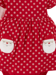 Carter Infant Girls Red Santa Claus Snowflake Christmas Dress Holiday Set