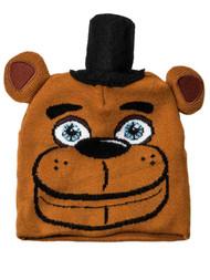 5 Nights At Freddys Boys Brown Bear Beanie Stocking Cap Hat