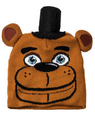 5 Nights At Freddys Boys Brown Bear Beanie Stocking Cap Hat
