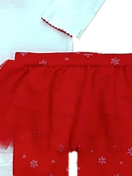 Carter Infant Girls White Glitter My First Christmas 2 Piece Set Outfit