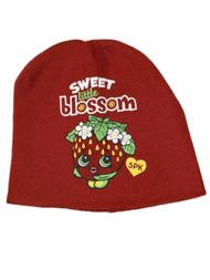 Shopkins Girls Red Strawberry Beanie Sweet Little Blossom Stocking Cap Hat
