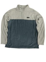 Columbia Mens 2-Tone Blue Gray Polar Fleece Jacket