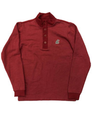 Antigua Mens Red WSU Cougars Jacket 1/4 Zip & Button Long Sleeve Shirt