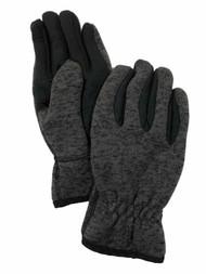 Levis Mens Gray Knit Intellitouch Text & Tech Touchscreen Gloves