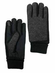 Levis Mens Cuffed Gray Knit Intellitouch Text & Tech Touchscreen Gloves