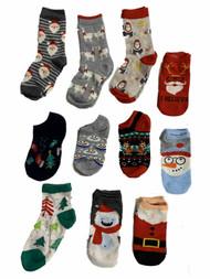Girls 12 Days of Socks Christmas Holiday 12 Pair