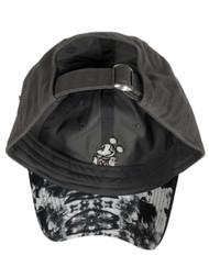 Disney Adult Mens & Womens Gray Tie Dye Mickey Mouse Baseball Cap Ball Hat