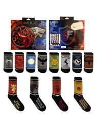 Game of Thrones Womens 12 Pair Days of Socks Set Fire & Ice OSFM