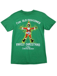 National Lampoons Christmas Vacation Mens Green Old Fashioned Family T-Shirt