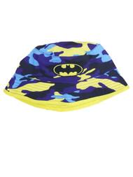 DC Comics Toddler Boys Blue & Yellow Camo Batman Bucket Hat Sun Cap