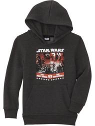Boys Gray Star Wars The Force Awakens Pullover Hoodie Sweatshirt Sweater M
