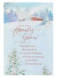 From Our Family to Yours Christian Christmas Cards God of Hope Romans 15:13