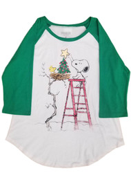 Peanuts Snoopy and Woodstock All I Want For Christmas Is By BFF Girls Shirt...