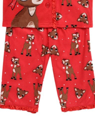 Baby Girls Rudolph The Red Nosed Reindeer /& Clarice Flannel Pajamas Size 24 Months