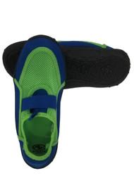 Boys Green & Blue Aqua Socks Water & Beach Shoes 2-3