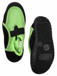 Boys Green & Black Aqua Socks Water & Beach Shoes