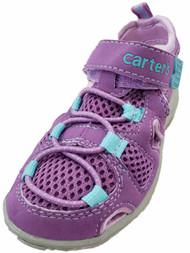 Carters Toddler Girls Purple & Blue Outdoor Sandals Summer Shoes