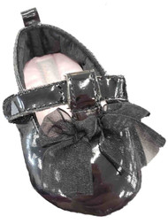 Carters Infant Girls Black Bow Mary Janes Baby Shoes Flats
