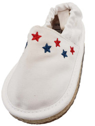 Carters Infant Girls White Red Blue Star Loafers Baby Shoes Slip-Ons