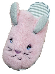 Womens Plush Pink Slide On Bunny Rabbit Slippers Scuffs House Shoes L(9-10)