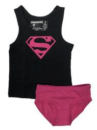 Supergirl Girls Underoos Underwear Set Tank Top Shirt & Panties