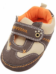 Carters Infant Boys Brown & Orange Loafers Baby Shoes Slip-On