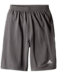 Adidas Boys Gray & Orange Striped Athletic Basketball Gym Shorts 5