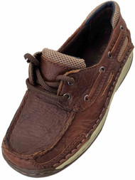 Boys Dark Brown Leather Loafers Casual Dress Shoes Big Kids Shoe