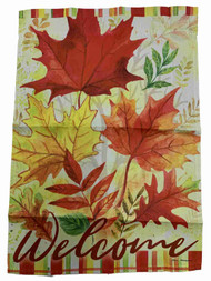 Autumn Birch Fall Holiday Thanksgiving Decorative Garden Suede Flag 18 x 12.5 In