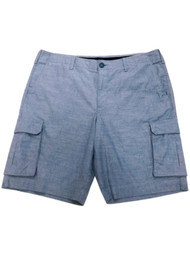 Apt. 9 Mens Blue Premier Flex Stretch Fabric Comfort Waistband Cargo Shorts 38