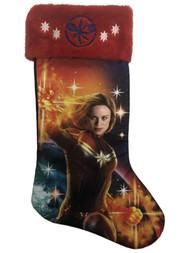 Captain Marvel Emblem Holiday Christmas Stocking