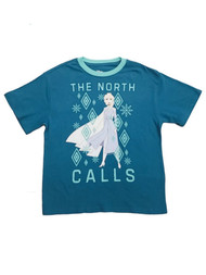 Disney Frozen Junior Womens Blue Elsa Anna T-Shirt The North Calls Tee