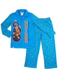 Boys Blue Lego Movie Emmett Built To Last 2 Piece Flannel Pajama Sleep Set