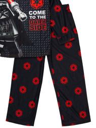 Boys Black Lego Star Wars Darth Vader Dark Side 2 Piece Pajama Sleep Set